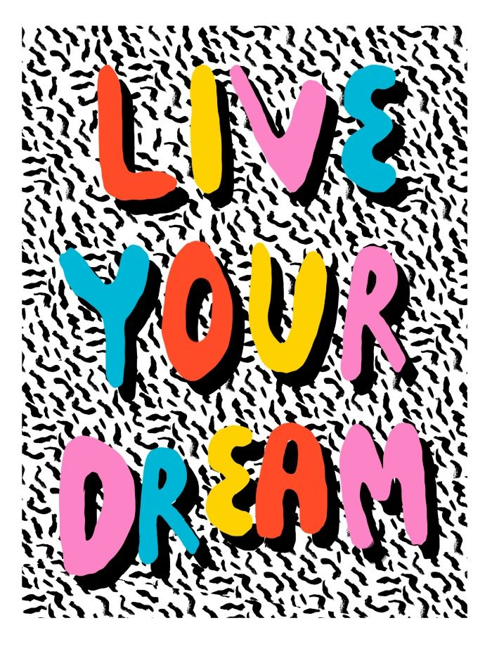 Ya Heard - 1980's throwback retro pattern memphis-style hipster bright colorful pop art minimal rad Art Print