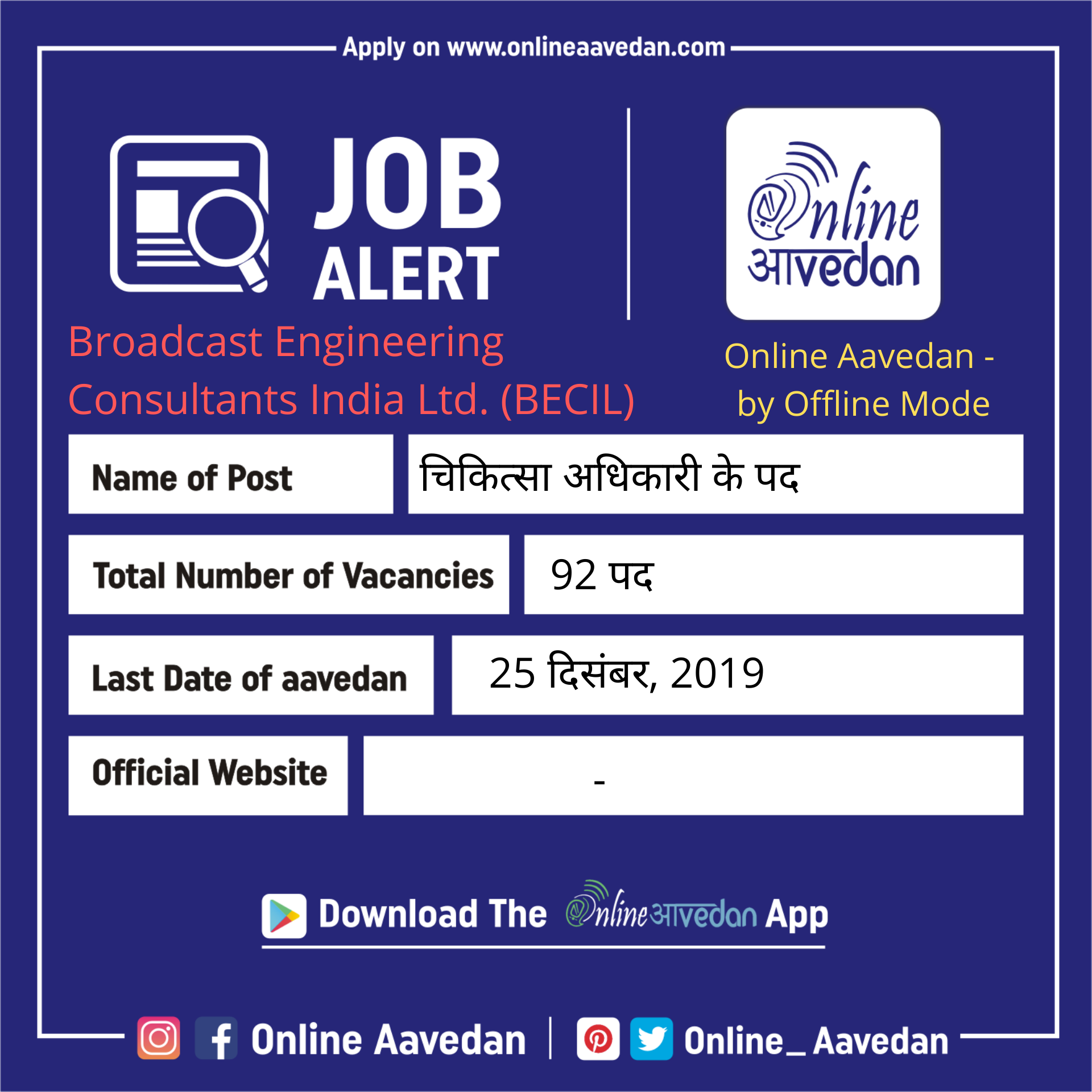 Broadcast Engineering Consultants India Ltd Becil Onlineaavedan Sarkarinaukri Govtjobs Psujobs Latestjobs Late Government Jobs Medical Jobs Police Jobs
