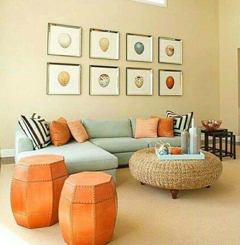 Mint Pumpkin Living Room Orange Living Room Color Room Colors #orange #color #living #room