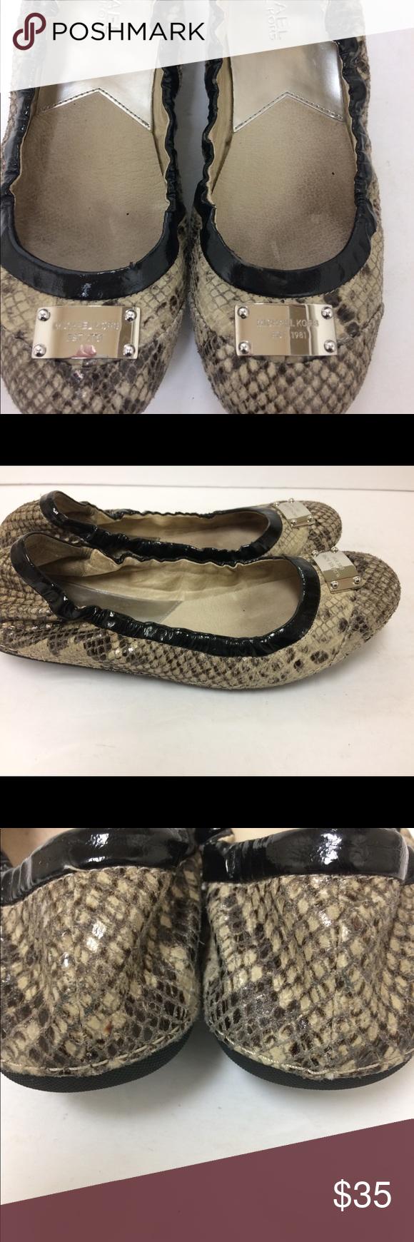 288fbbc8f921 Michael Kors Python ballet flats size 7 Michael Kors Python ballet flats.  Pre-owned with gentle wear. MICHAEL Michael Kors Shoes Flats   Loafers