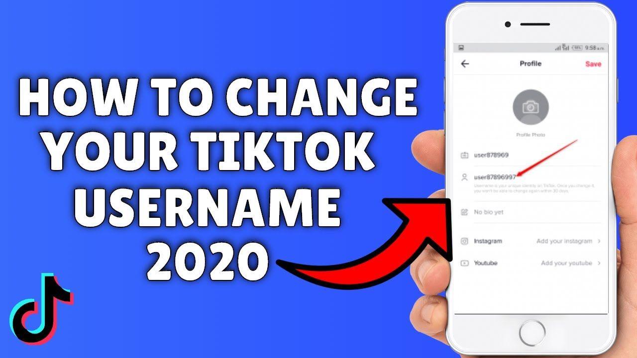 How To Change Tiktok Username 2020 Change Your Name Profile Link Changing Your Name You Changed Username