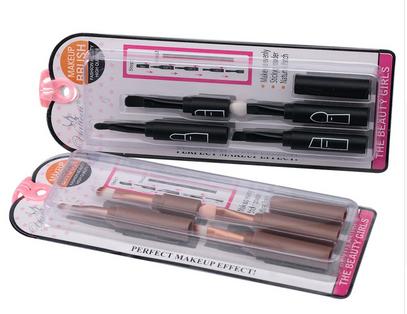 mini portable make up brush set multifuction connectable