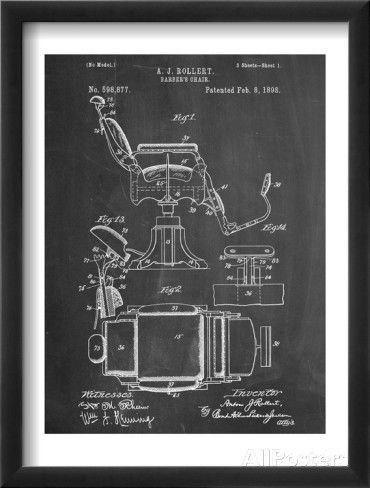 Barber's Chair Patent Poster - bij AllPosters.be