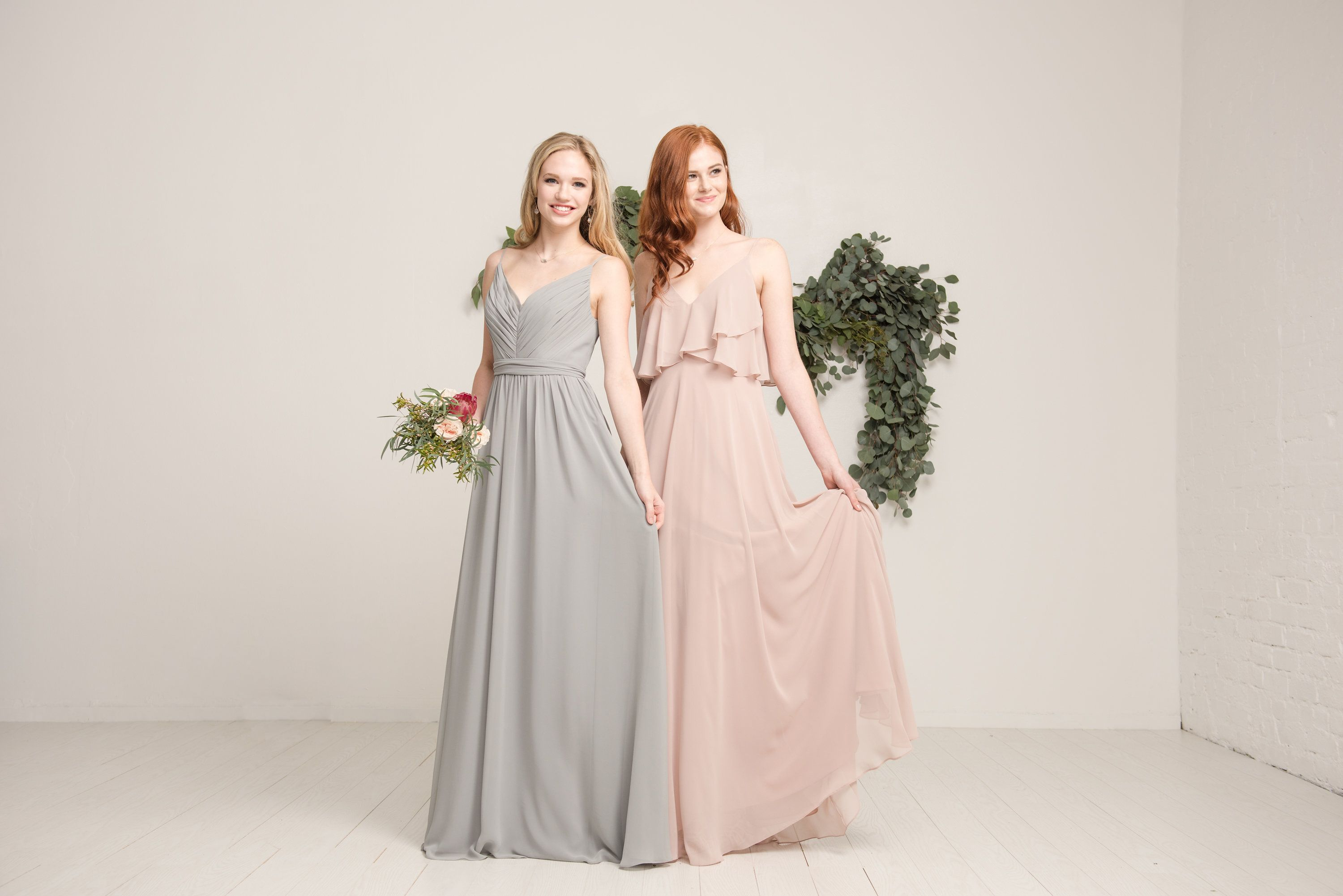 Feminine and flowy bridesmaid dresses and separates designed by feminine and flowy bridesmaid dresses and separates designed by love tanya blush grey ombrellifo Gallery
