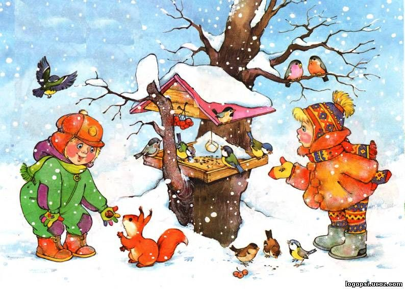 Картинки зима для детей 3-4 лет