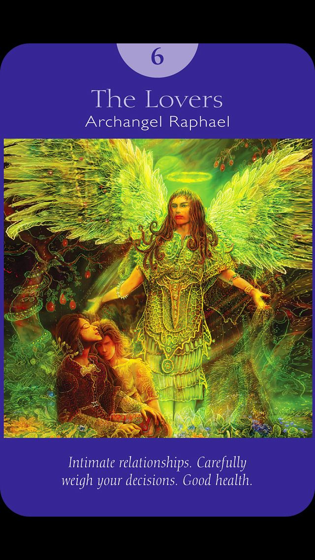 The Lovers. Angel Tarot By Doreen Virtue And Radleigh