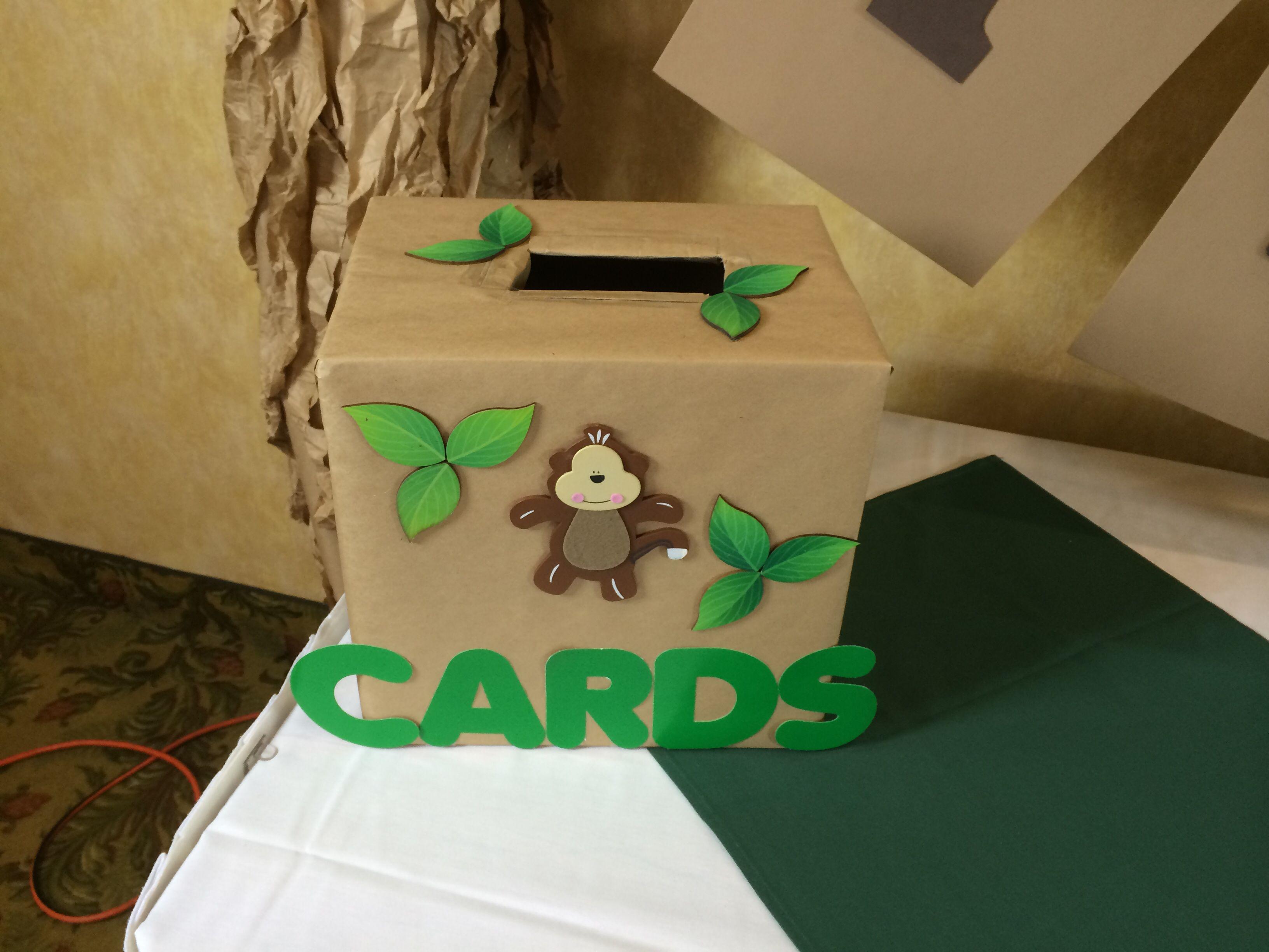 a36f5f7f3b574 Top View of (Jungle Theme) Card Box