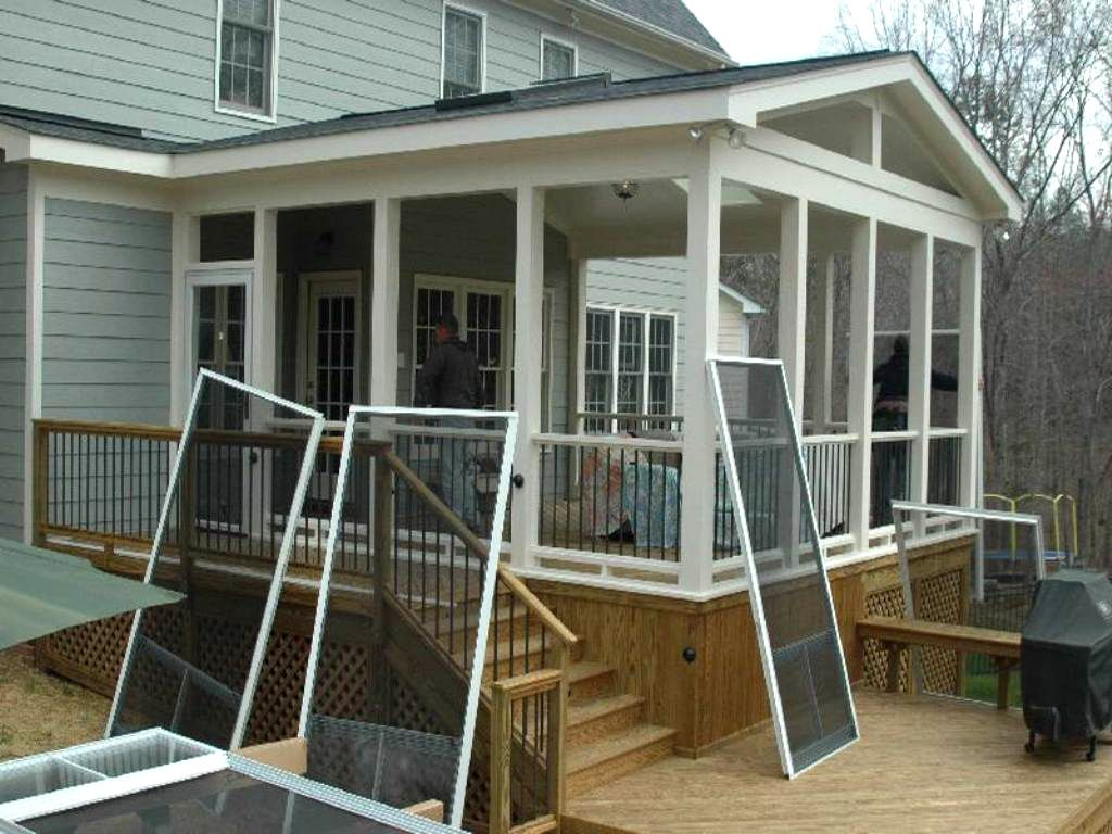 Exterior: Modern Concept How To Enclose A Patio With Enclose Your Screen  Porch Custom Decks