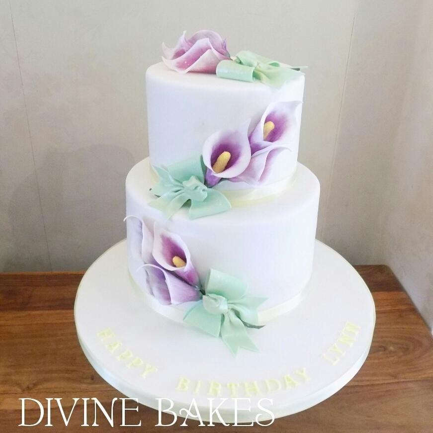 Calla Lillies Birthday Cake Birthday Cake With Flowers Cake Birthday Cake