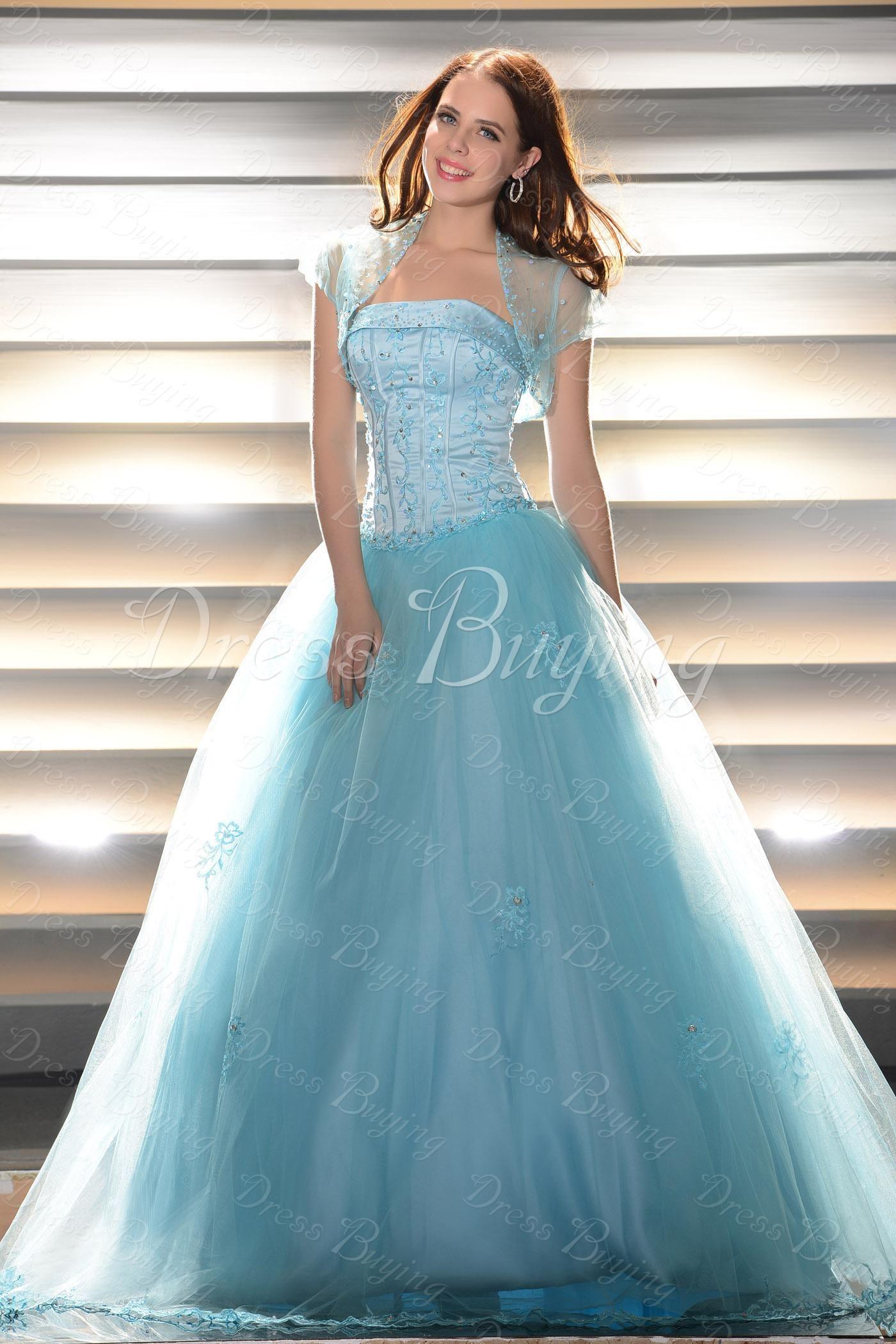 Fancy Ball Gown Quinceanera Dress $185.99   ladies tea- formal ball ...