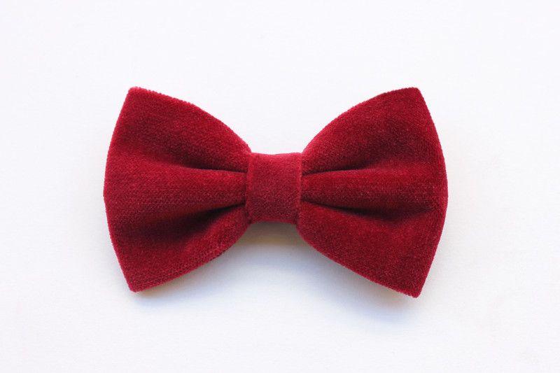 Herren-Accessoires - Fliege samt rot,krawatte mann,feiertage,geschen - ein Designerstück von ScoccaPapillon bei DaWanda