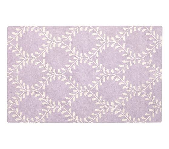 Evelyn Vine Rug Lavender Pottery Barn Kids