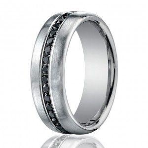 Men Wedding Bands Black Diamond Except I Think John Would Prefer White Diamonds