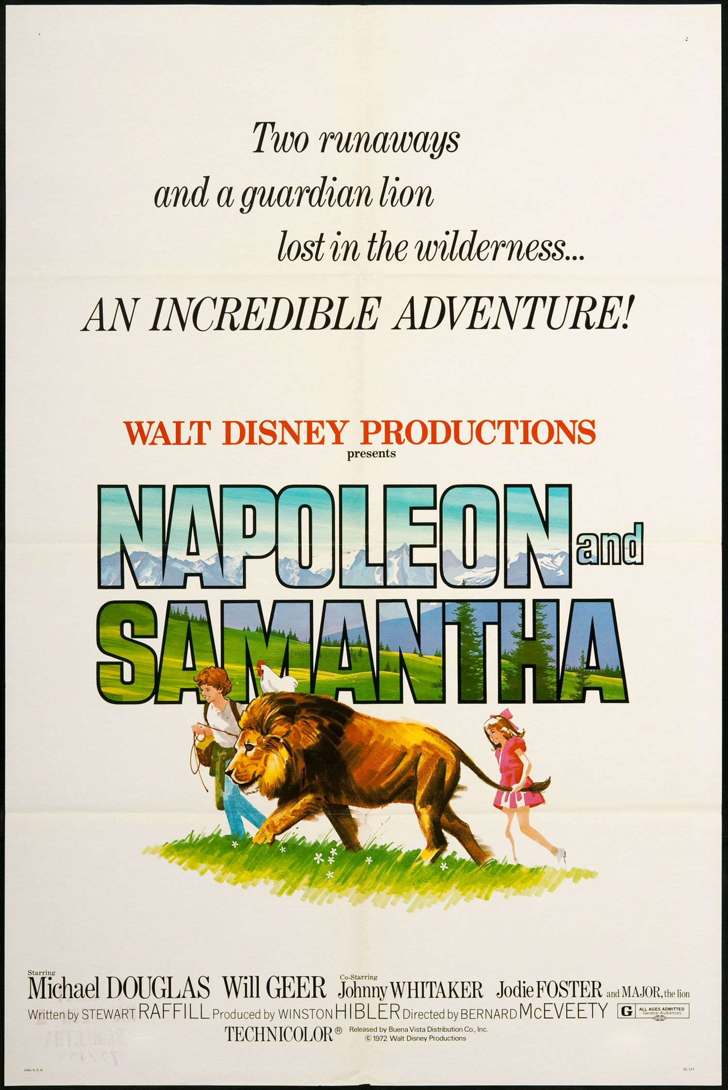 Napoleon and Samantha 1972 disney movie poster