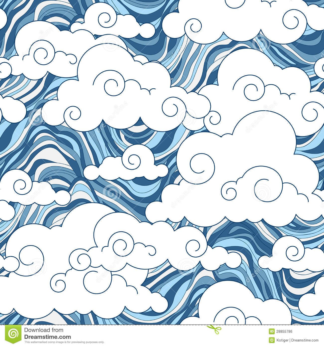 Chinese Cloud Vector Vintage Cloud Chinese Seamless