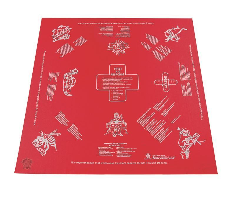 5ive Star Gear First Aid Survival Handkerchief Red #firstaid