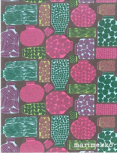 purnukka (jar); design by eija hirvi for  marimekko