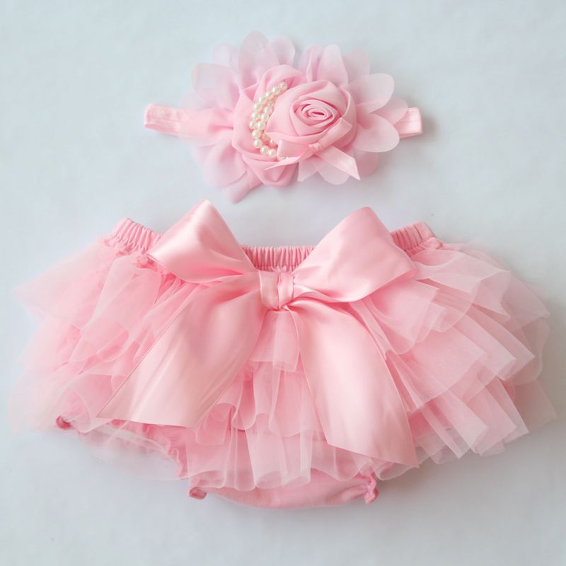 Baby//Toddler Ruffled White Flowers Baby Girls Cotton Diaper Covers