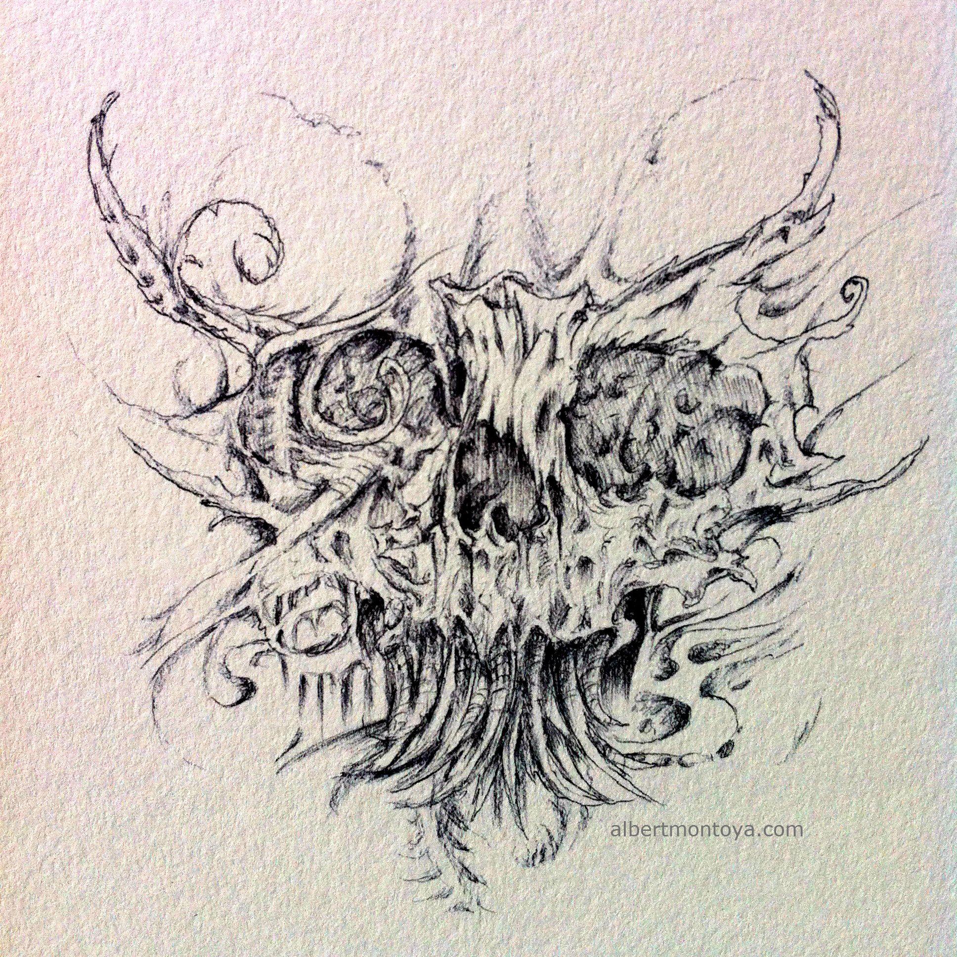 Ink Illustration On Paper By Albert Montoya