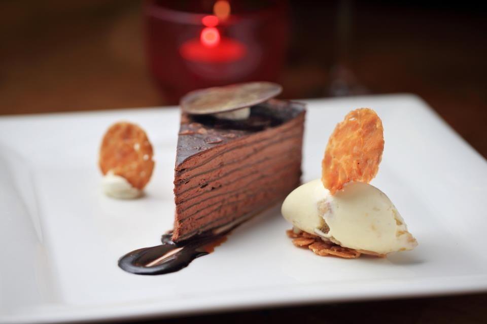 Double Chocolate Crepe Cake. drooooling!:b