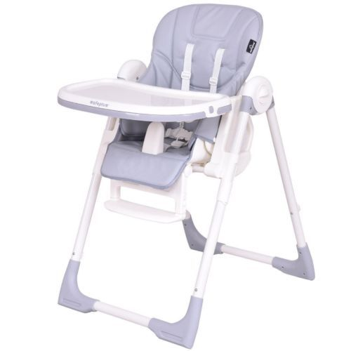 Adjustable Height Recline Infant Feeding Baby High Chair Safety
