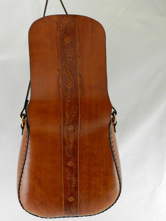 d27f0ce10ce Handmade Latigo Leather Shoulder Bag - Hand-dyed, hand tooled, hand-stitched  - Solid Brass hardware with magnetic clasp   Сумка   Pinterest   Leather ...