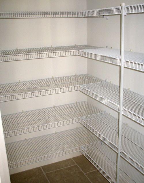 Ventilated Covner Shelving Wire Closet Shelving Pantry Shelving