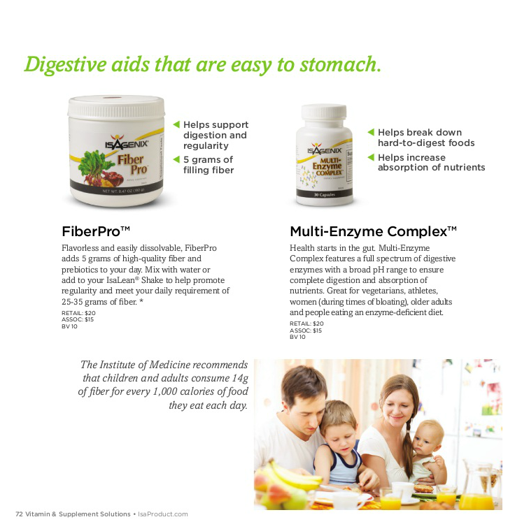 product catalog isagenix p 72 digestive aids that are