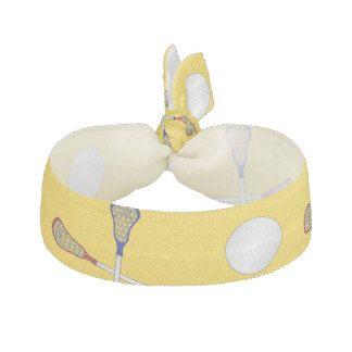 Yellow lacrosse pattern hair tie
