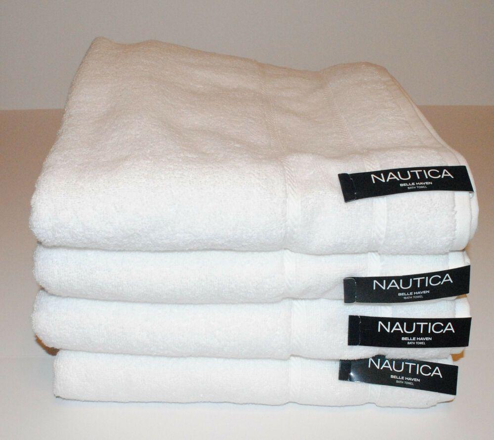 Ebay Sponsored Nautica Belle Haven Bath Towel 4 Pc Set 214408 Soft Absorbant 30 X 54 New Belle Haven Towel Bath Towels