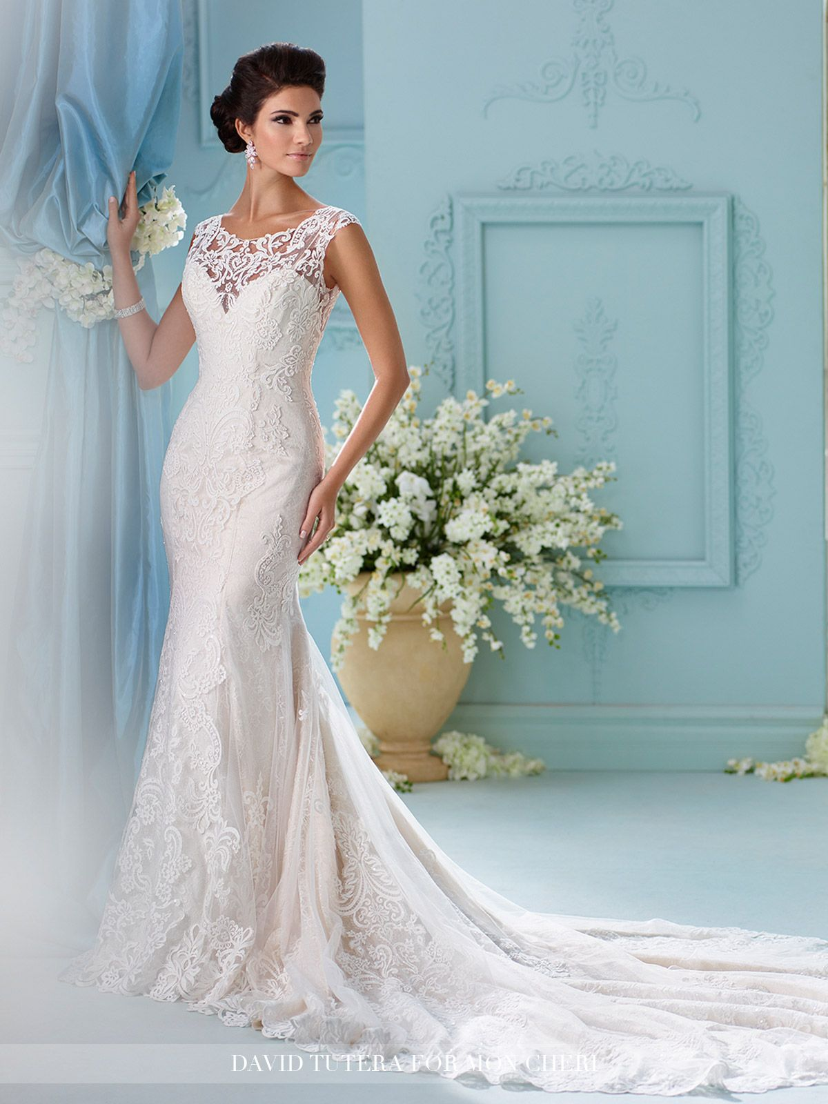 Lace Fit & Flare Wedding Dress With A Sweetheart Neckline-216242 ...