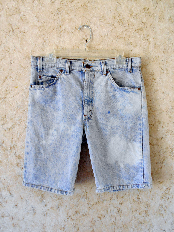 1167ed9a94 Vintage 1980s 80s Levi Strauss Stone Washed Jean Shorts Orange Tab Rad Retro  Denim Shorts Hipster Mens Waist Size 33 by CoolDogVintage on Etsy