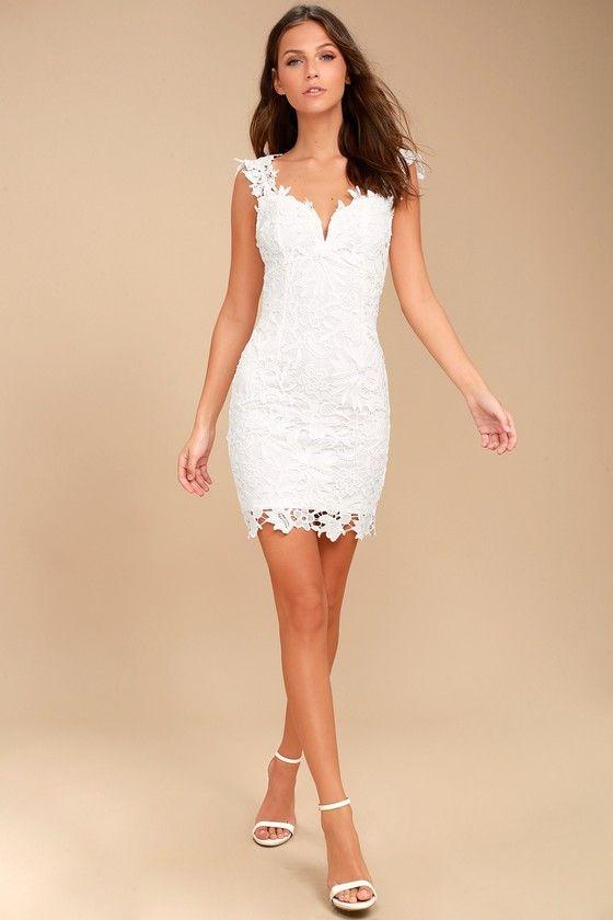 0927fc694 Uno, Dos, Lace White Lace Bodycon Dress | Fashion | White lace ...