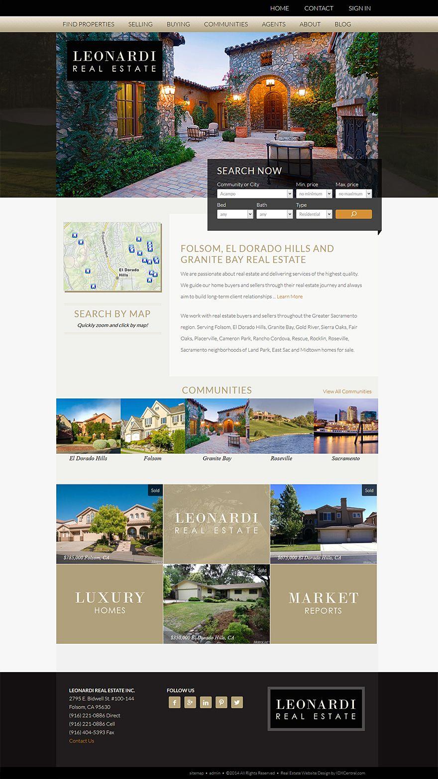 Custom Wordpress Real Estate Website For Realtor John Leonardi Includes Our Custom Built Real Estate Website Design Real Estate Website Website Design Services