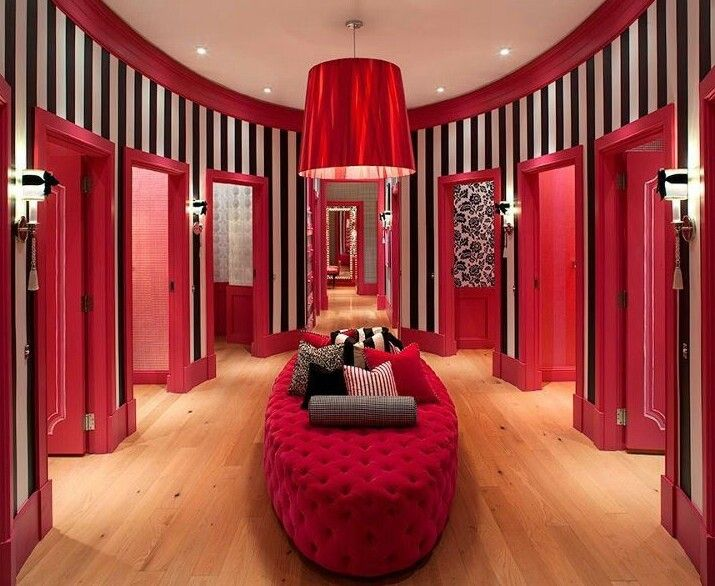 Red dressing room