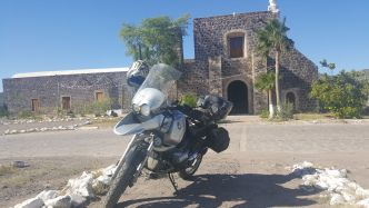 Adventure Motorcycle trip. Todos de Baja! BMW 1150GS. Mission at Mulege. More one www.boutside.org
