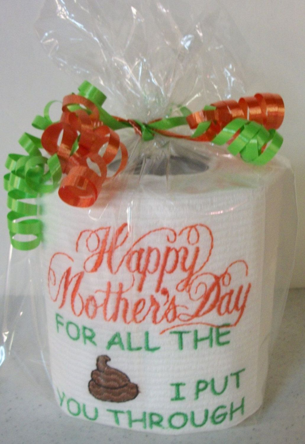 Custom Made Toilet Paper Custom Made Embroidered Mother 39s Day Toilet Paper Gag Gift