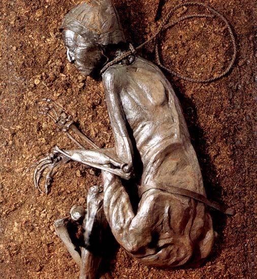Tollund man, 400-300 B.C., found in Aarhus, Denmark in 1950 ...