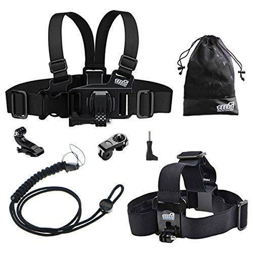 EEEKit Gift Pack For VTech Kidizoom Kid Action CamHead Strap MountJunior Child Kid Chest Body Harness MountNeck StrapStorage Bag * Want to know more, click on the image.Note:It is affiliate link to Amazon.