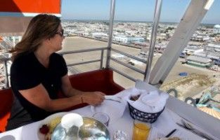 WILDWOOD - White linen tablecloths, real china, good food, and all at 156 feet above the beach.