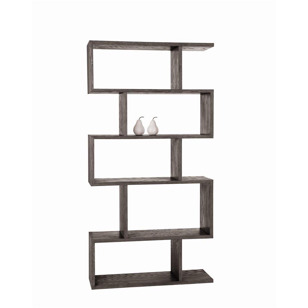Carmine Bookshelf Oak Bookshelves Contemporary Bookcase Backless Bookshelves