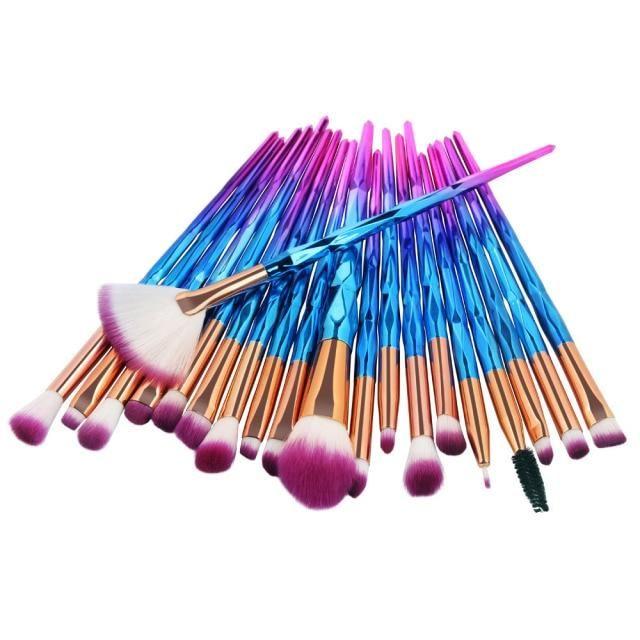 20pcs Diamant Make-up Pinsel Set Beauty Make Up Pinsel Pincel Maquiagem Puder Foundation Blush Blending Lidschatten Lippenkosmetik – Dunkelblau