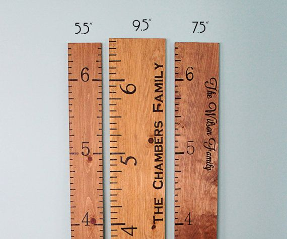 Wooden Growth Chart Engraved Growth Chart Growth Ruler Height