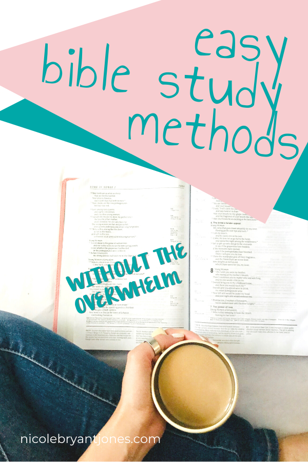 Easy Bible Study Methods Without The Overwhelm Easy Bible Study Bible Study Methods Learn The Bible