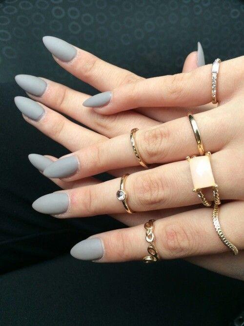 Pin By G I S E L L E 💋 On Makeup Amp Nails Matte Nail Colors Grey Acrylic Nails Light Nails