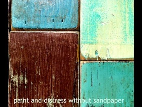 A Fun DIY Video, How To Paint Distress. Wood Furniture With Out Using  Sandpaper Part 92