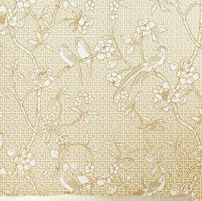 chinese retro bird wallpaper 3d embossed non-woven wallpaper roll