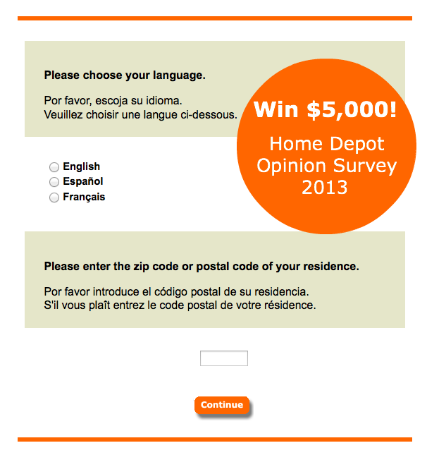 Pin by Online Store Survey on Opinion Surveys | Home depot