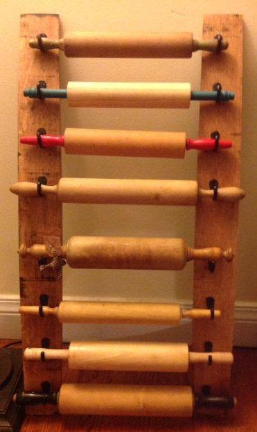 Bourbon Barrel Stave Rolling Pin Display Rack By Rusticambition Rolling Pin Display Rolling Pin Barrel Stave