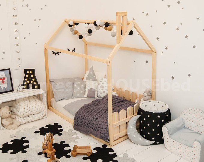 Floor Bed Kids Bed Wooden Toddler Bed Floor House Bed In 2019